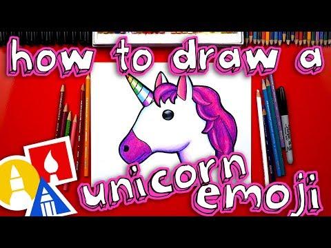 How To Draw The Unicorn Emoji 🦄