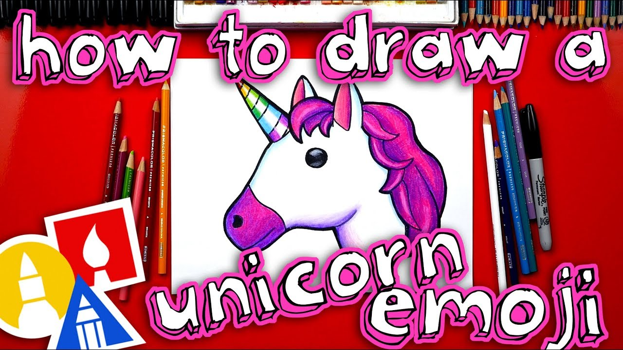 How To Draw The Unicorn Emoji Youtube