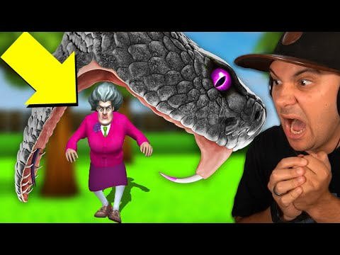 I Made A GIANT SNAKE Attack Hello Neighbor's Sister! | Scary Teacher 3D |