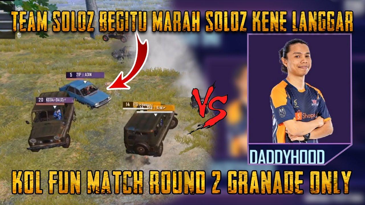 Perjuangan Seorang Diri Dari Pasukan Soloz Melawan Team Daddy | KOL Fun Match | PUBG Mobile Malaysia