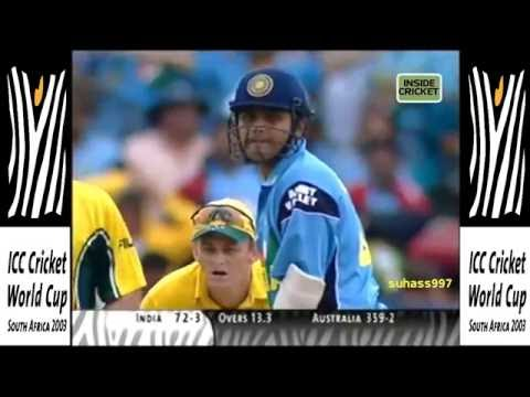 Vintage SEHWAG - 82 off 81 balls »» World cup 2003 final India vs Australia