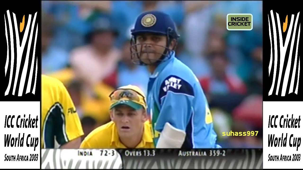 World Cup 2003 Final India Vs Australia Vintage Sehwag 82 Off 81 Balls Youtube
