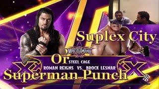 WWE 2K15 Roman Reigns vs Brock Lesnar wrestlemania 31 باي باي يا كوتش PS4