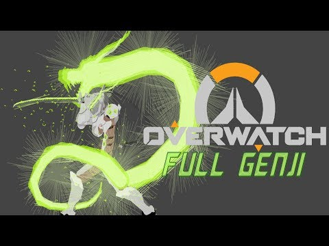 Overwatch full bodie Genji test-stickman