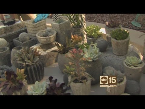 How to make faux concrete pots, planters