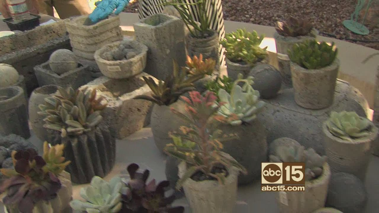 How To Make Faux Concrete Pots Planters Youtube