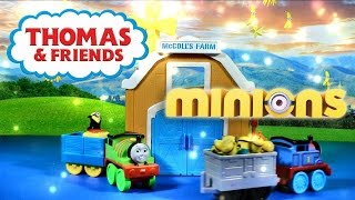 MINIONS Movie Kinder Surprise Eggs Thomas Train and Friends Percy Thomas the Tank Engine Toys Videos