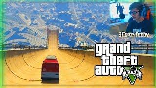 WORLDS BIGGEST Modded Ramp GTA V Stunts & Mods! (GTA 5 Funny Moments)