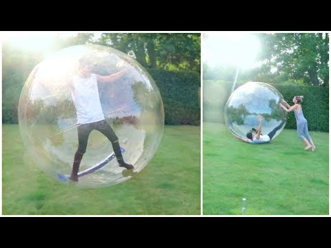 GIANT BUBBLE BALL CHALLENGE!