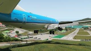 Big Planes Crazy landing into Dangerous Airport, St Barths [XP11]