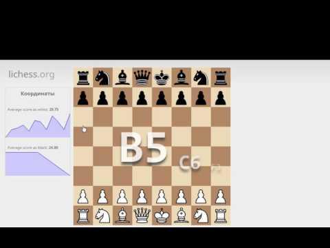Тренажер шахматных координат на lichess
