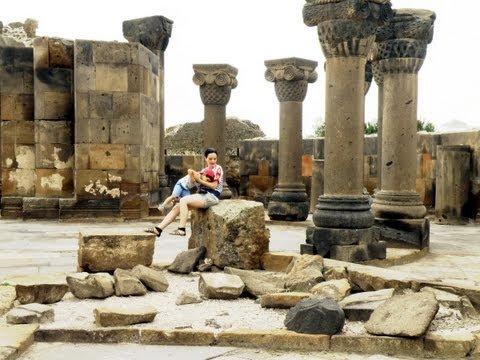 Храм ЗВАРТНОЦ - Жемчужина Армянской Архитектуры
