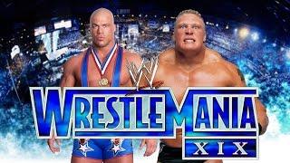 Kurt Angle VS Brock Lesnar | WWF NO MERCY 2K16 MOD