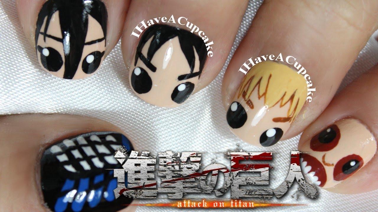 - Attack On Titan Nail Art - YouTube