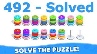 Color Hoop Stack - Level 492 screenshot 2