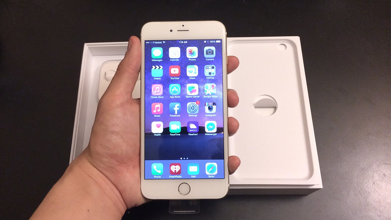 apple iphone 6 plus 64 gb gold unlocked unboxing comparison youtube. Black Bedroom Furniture Sets. Home Design Ideas