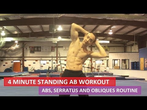 4 MINUTE STANDING AB WORKOUT ROUTINE FOR ABS AND CORE, SERRATUS AND OBLIQUES (4K)