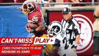 Chris Thompson Tears Through Rams Defense for 61-Yard TD Run! | Can't-Miss Play | NFL Wk 2
