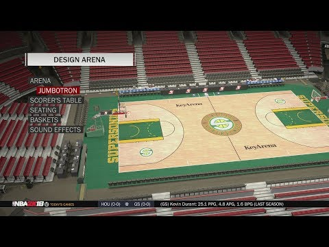 NBA 2K18 Arena Creation: Seattle SuperSonics 2001 - 2008 (KeyArena)