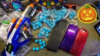 Halloween NERF Package Unboxing! NEW Magazines and Rival Rounds