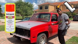I Painted My Truck With Rustoleum Spray Paint and I Think I RUINED IT!!!