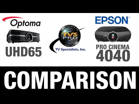 Optoma UHD65 Home Theater Projector Comparison: Epson Pro
