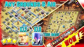 WOW!! 12 GIANTS+18 WITCHES - ANY GROUNDS & AIR STRATEGY SMASH TH12 3-STAR ( Clash of Clans )