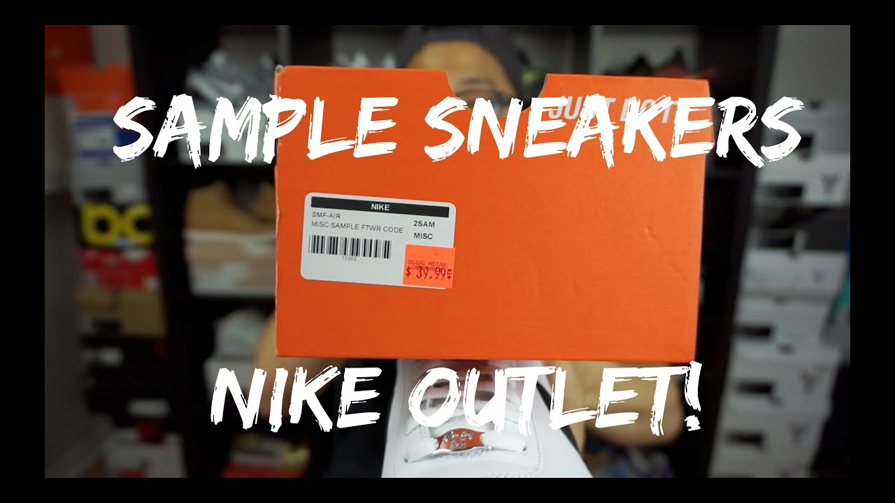 04559b863 SAMPLE SNEAKERS AT THE NIKE OUTLET ! ! - STEAL ALERT - YouTube
