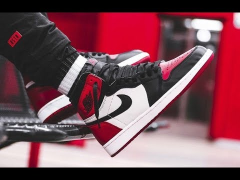 on sale 2756c 6c575 Air Jordan 1 Bred Toe Retro 2018 Sneaker SELLS OUT FAST!