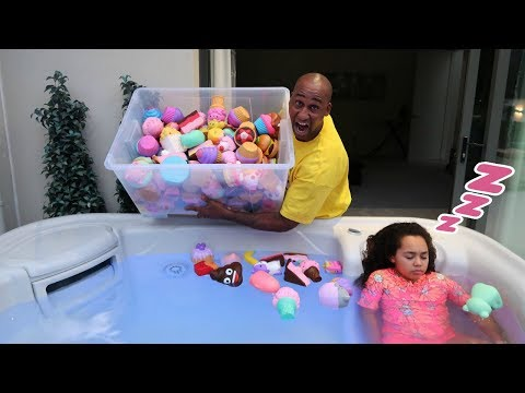 TIANA'S SQUISHY TOYS IN HOT TUB PRANK!! thumbnail