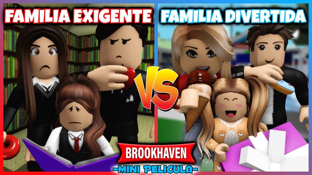 Download FAMILIA EXIGENTE vs FAMILIA DIVERTIDA 💔 Brookhaven Roblox Mini Pelicula (Historias en español)