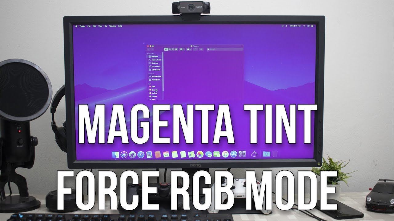 Force RGB mode in Mac OS X to fix the picture quality of an