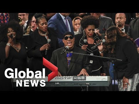 Aretha Franklin funeral: Stevie Wonders FULL performance