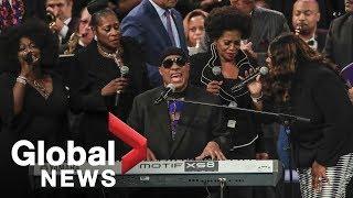 Aretha Franklin Funeral Stevie Wonder 39 S Full Performance