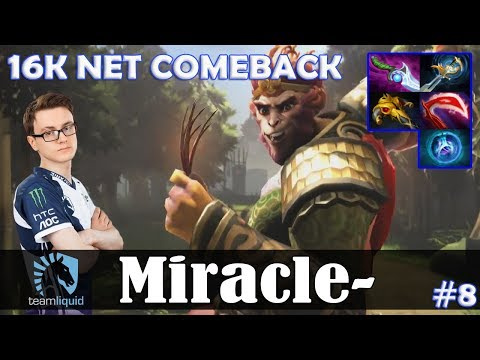 Miracle - Monkey KIng MID | 16K NET COMEBACK | Dota 2 Pro MMR  Gameplay #8