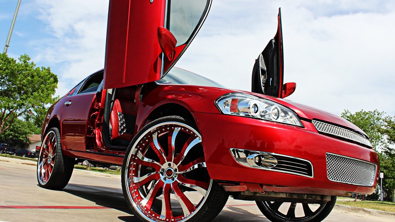 Kandy Red Chevy Impala On 28 Quot Forgiato Inferno Done By Big