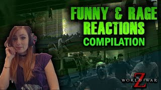 World War Z: Streamers FUNNY and RAGE REACTIONS   WWZ Funny reactions Compilation #3