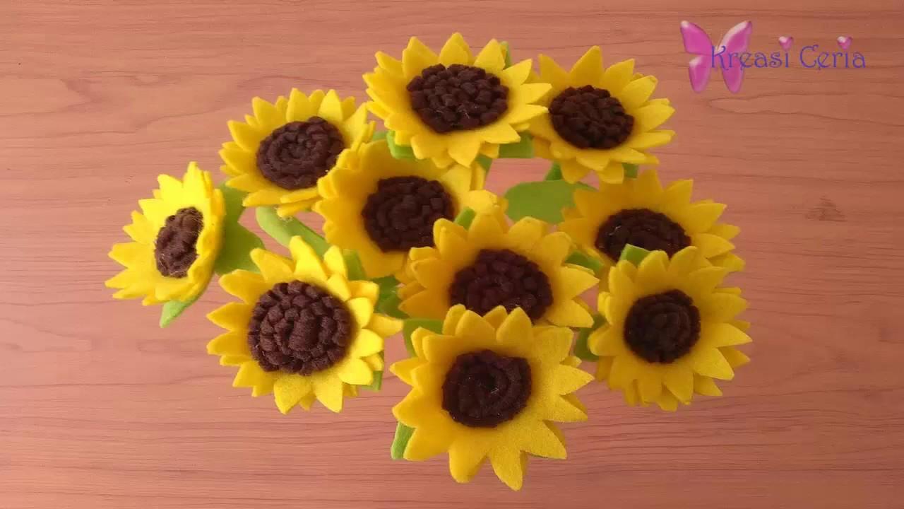 Cara Mudah Membuat Bunga Matahari dari Kain Flanel - YouTube 90dffdf41c