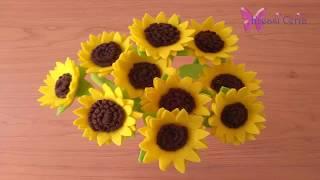 Cara Mudah Membuat Bunga Matahari dari Kain Flanel