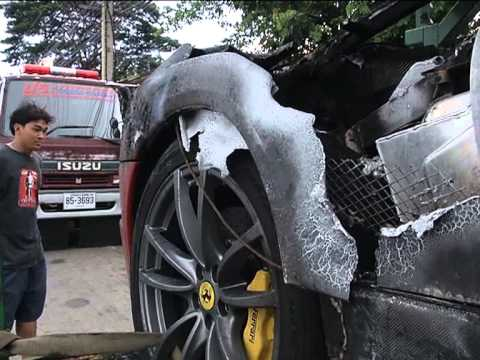 ไฟไหม้รถสปอร์ตราคาแพง