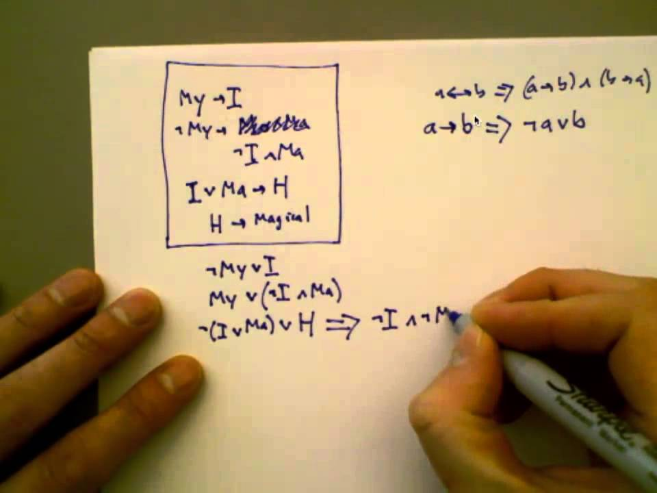 conversion to CNF (propositional logic) - YouTube