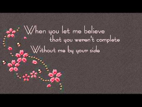 Jessica Simpson - When You Told Me You Loved Me With Lyrics
