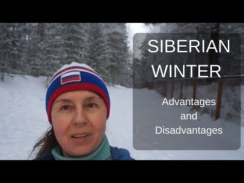Siberian winter. Advantages and disadvantages.