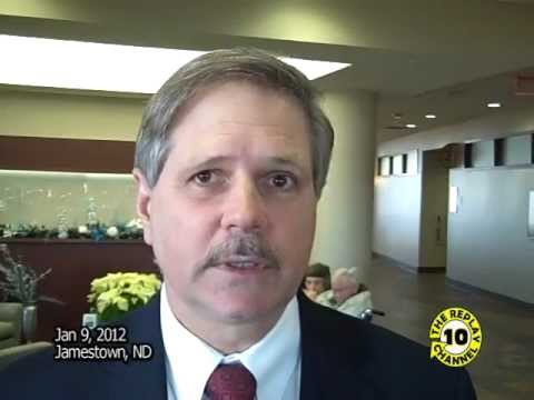 US Senator Hoeven Tours Airport and Hospital Jamestown ND