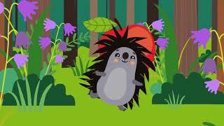 ЕЖИК    Развивающая веселая песенка мультик для детей малышей про животных