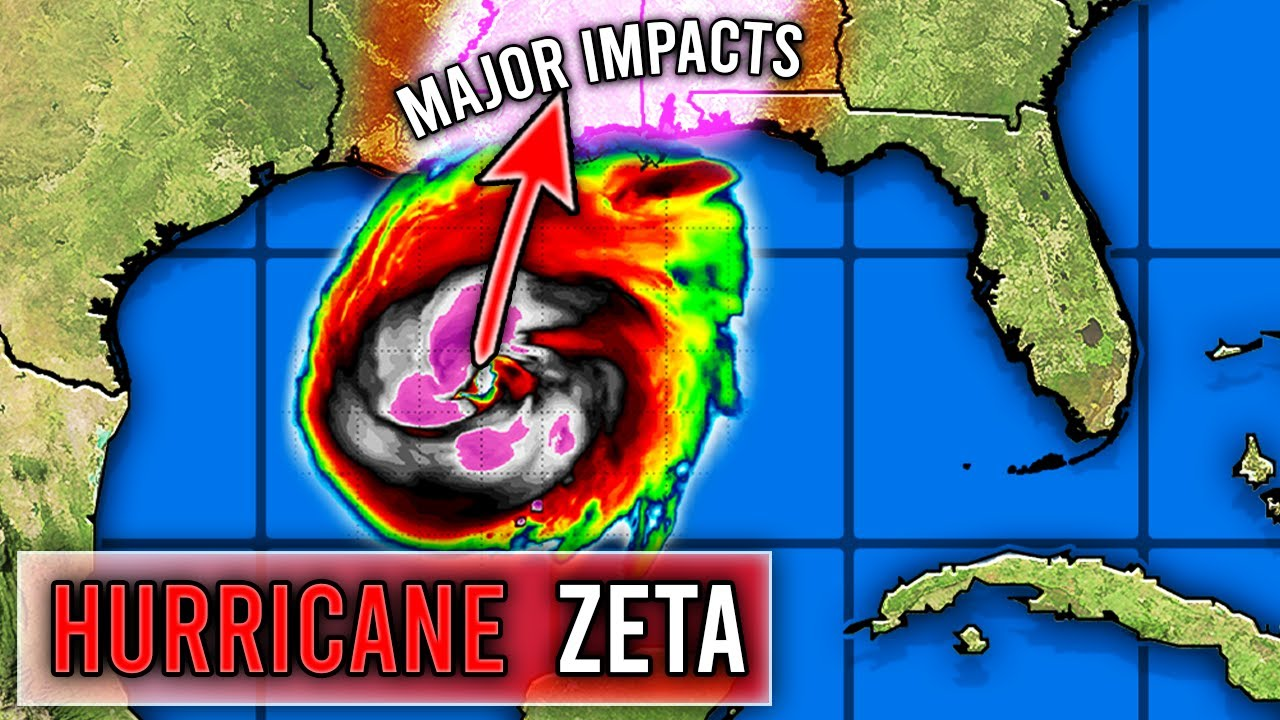 Strong Hurricane Zeta Forecast