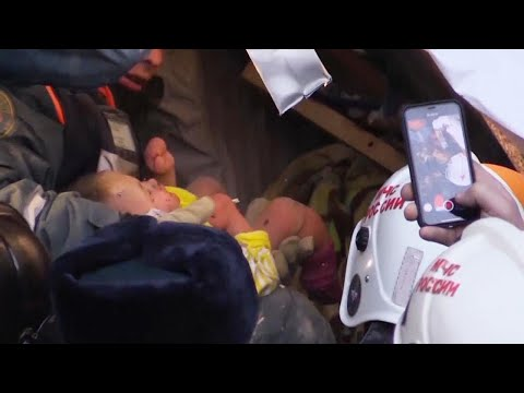 Baby Is Pulled From Rubble Alive Following Apartment Collapse