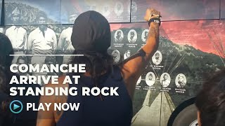 the comanche nation arrive at standing rock 8 20 16 native daily network
