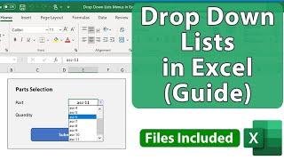 Guide To Making Drop Down List Menus In Excel