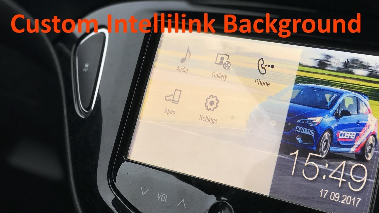 Intellilink Custom Desktop Background - Vauxhall Corsa E (all Intelilink  variants)